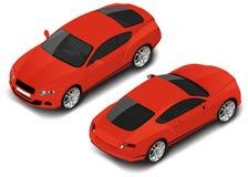 Carro desportivo de alta qualidade isométrico do vetor Ícone do transporte ilustração stock