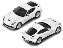 Carro desportivo de alta qualidade isométrico do vetor Ícone do transporte ou elemento infographic Pode ser usado para a composiç Fotos de Stock