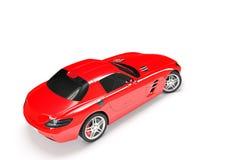 Carro desportivo em um fundo branco Imagens de Stock Royalty Free