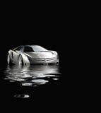 Carro desportivo na água rendida ilustração do vetor