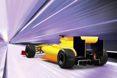 Carro desportivo na estrada de alta velocidade Fotografia de Stock Royalty Free