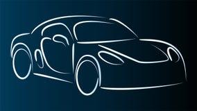Carro, carro desportivo no fundo do movimento, do carro e do carro desportivo ilustração royalty free