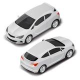 Carro desportivo pequeno de alta qualidade isométrico do vetor Ícone do transporte ilustração stock