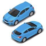 Carro desportivo pequeno de alta qualidade isométrico do vetor Ícone do transporte ilustração do vetor