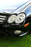 Carro desportivo preto exótico imagens de stock royalty free