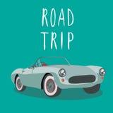 Carro desportivo retro de prata Ilustração do vetor Carro dos desenhos animados Fotos de Stock