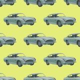 Carro desportivo retro seamless Ilustração do vetor Carro dos desenhos animados Imagens de Stock Royalty Free