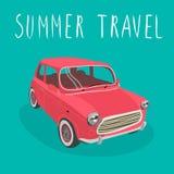 Carro desportivo retro vermelho Ilustração do vetor Carro dos desenhos animados Imagens de Stock