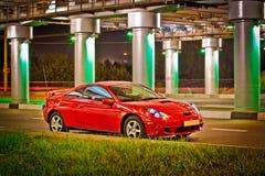 Carro desportivo vermelho Fotos de Stock