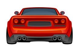 Carro desportivo vermelho Fotografia de Stock Royalty Free