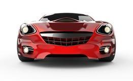 Carro desportivo vermelho brandless luxuoso no fundo branco ilustração stock