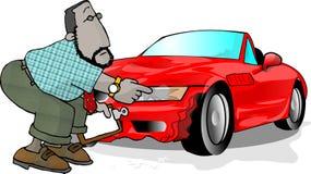 Carro destruído ilustração stock