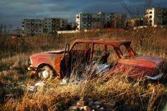 Carro destruído Imagens de Stock Royalty Free