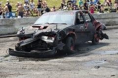 Carro destruído Imagem de Stock