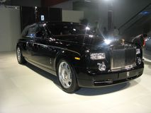 Carro do balck de rolls royce Fotografia de Stock