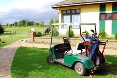 Carro do carro de golfe imagem de stock