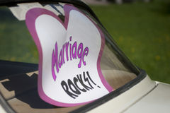 Carro do casamento Ilustração Royalty Free