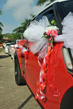 Carro do casamento Fotografia de Stock Royalty Free