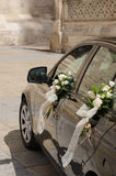 Carro do casamento no preto Fotos de Stock