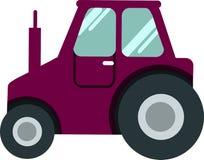 CARRO do CLUBE do carro do golfe em um vetor branco do fundo ilustração royalty free