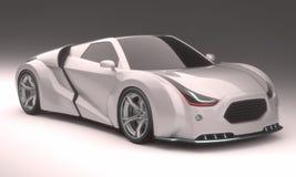 carro do conceito 3d Fotografia de Stock