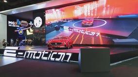 Carro do conceito da emoção de G na exposição na 35a expo internacional do motor de Tailândia filme