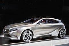 Carro do conceito da Um-Classe do Benz de Mercedes fotografia de stock