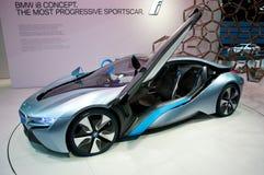 Carro do conceito de BMW i8 em IAA 2011 Fotografia de Stock Royalty Free