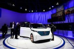 Carro do conceito de Volkswagen Budd-e foto de stock royalty free