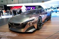 Carro do conceito do ônix de Peugeot Fotografia de Stock