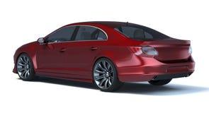 Carro do conceito do sedan 3d ilustração royalty free