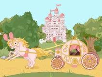 Carro do conto de fadas ilustração royalty free