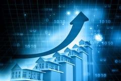 Carro do crescimento dos bens imobiliários Fotos de Stock Royalty Free
