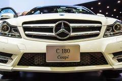 Carro do cupê de Mercedes-Benz C 180 na exposição imagem de stock royalty free