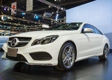 Carro do cupê do cgi de Mercedes-Benz E 200 na exposição fotos de stock royalty free