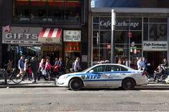 Carro do departamento da polícia de New York fotografia de stock