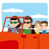 Carro do desengate da família Imagem de Stock Royalty Free