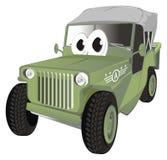 Carro do exército com olhos ilustração royalty free