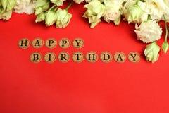 Carro do feliz aniversario Imagem de Stock