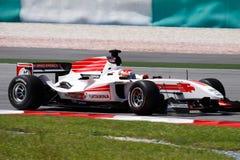 Carro do GP de Indonésia A1 da equipe Fotografia de Stock