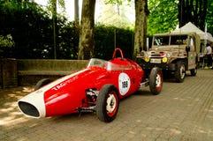 Carro do GP dos anos sessenta na bandeira 2017 da prata de Vernasca Foto de Stock