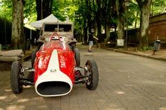 Carro do GP dos anos sessenta na bandeira 2017 da prata de Vernasca Fotos de Stock Royalty Free