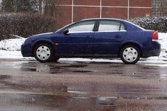 Carro do inverno Fotografia de Stock