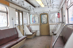 Carro do metro. Imagens de Stock