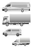 Carro do minibus do caminhão grande Imagens de Stock Royalty Free