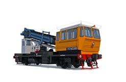 Carro do motor-trilho do escavador da sustentação Imagem de Stock