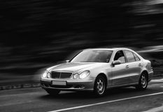 Carro do movimento Fotografia de Stock Royalty Free