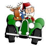 Carro do Natal de Santa Imagens de Stock Royalty Free