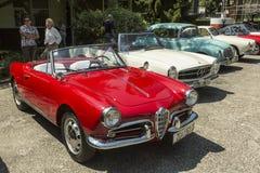 Carro do oldtimer de Alfa Romeo Foto de Stock Royalty Free