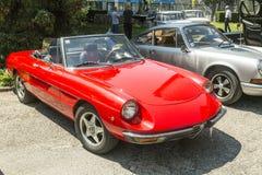 Carro do oldtimer de Alfa Romeo Fotos de Stock Royalty Free